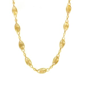 Yellow Gold Womens Necklace
