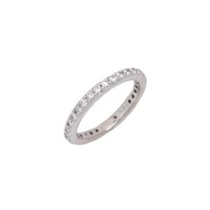 White White Gold Diamond Mens Wedding Ring Size 4.25