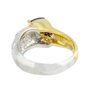 Diamond, Tanzanite Mens Ring Size 6.75