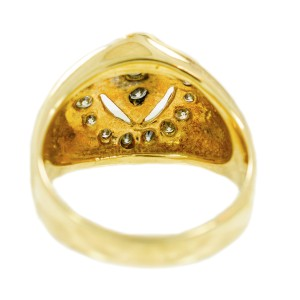 Yellow Gold Diamond Womens Ring Size 7.5