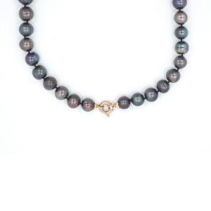 Yellow Gold Pearl Womens Necklace