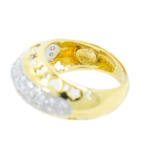 Yellow Gold Diamond Mens Ring Size 8
