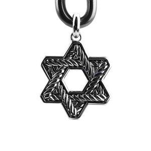 David Yurman Sterling Silver Color Changing Garnet Star Pendant