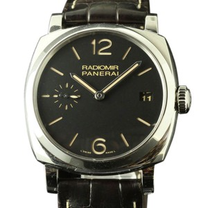 Panerai PAM00514 Radiomir Black Brown Leather Mens Watch 47mm