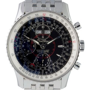 Breitling Montbrillant Datora A21330 Stainless Steel Black Automatic Men's Watch