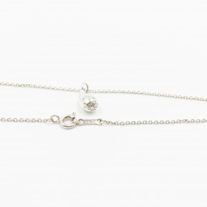 Tiffany & Co. Elsa Peretti Sterling Silver Teardrop Pendant Necklace