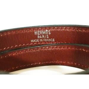 Hermes Oxblood Kelly Double Tour Palladium Turn Bracelet