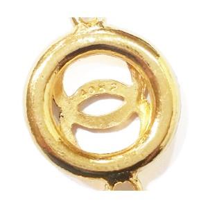 Chanel 18K Gold Plated CC Round Cutout Bracelet