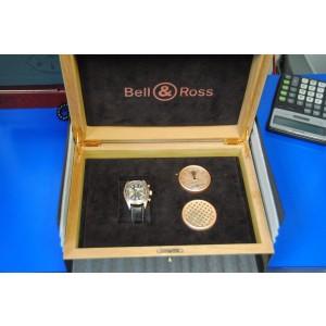 Bell & Ross 126XLGD Cigar 18K Rose Gold Mens Watch