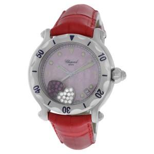 Chopard Happy Sport 28/8950 Stainless Steel Floating Hearts Diamond Quartz 38mm Womens Watch