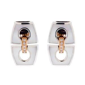 Chimento 18K Pink & White Gold Noblesse Mother of Pearl & Diamond Earrings