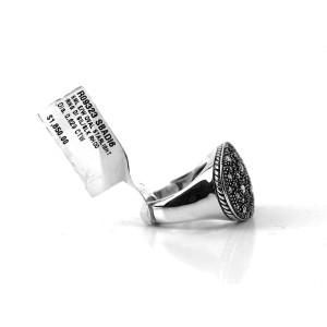 David Yurman Sterling Silver Small Starlight 0.63 Ct Diamond Ring Size 6