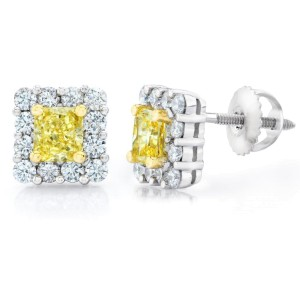 David Gross  Platinum  Diamond Earrings