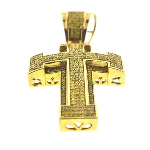 Yellow Gold Diamond Womens Pendant