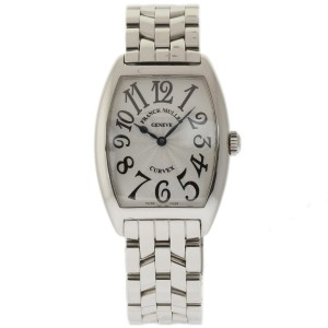 Franck Muller Cintree Curvex 4069 Stainless Steel Silver Guilloche Dial 25mm x 35mm Watch