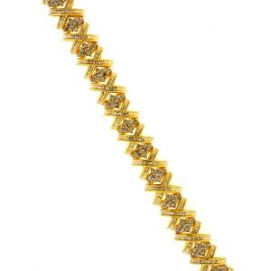 Yellow Gold Diamond Mens Bracelet