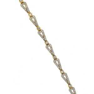 Yellow Gold Diamond Womens Bracelet