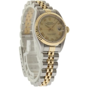 Rolex Datejust 79173 Steel Gold Champagne 26mm Womens Watch 2000