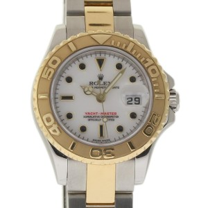 Rolex Yacht-Master 169623 Steel Gold White 29mm Womens Watch 2006