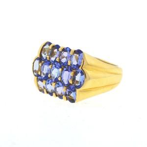 14K Yellow Gold & Lavender Quartz Ring Size 8