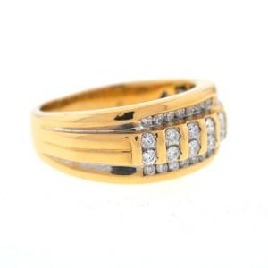 Yellow Gold Diamond Mens Ring Size 7.77