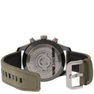 IWC Pilot IW388002 Ceramic/Titanium & Green Strap Automatic 46mm Mens Watch