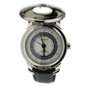 Tiffany & Co. Atlas Demi Hunter Stainless Steel & Leather Automatic 37mm Unisex Watch