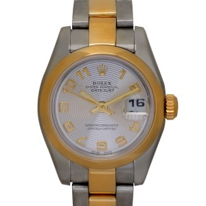 Rolex Datejust 179163 Stainless Steel / 18K Yellow Gold with Silver Dial 26mm Womens Watch