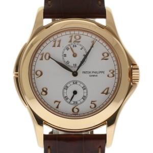 Patek Philippe Calatrava Travel Time 5134R-001 18K Rose Gold & Leather Manual 37mm Mens Watch