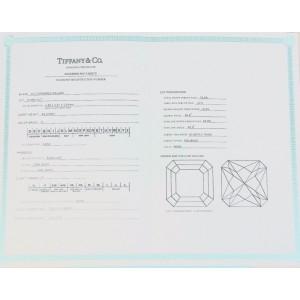 Tiffany & Co. 950 Platinum 4.16ct. Diamond Ring Size  6