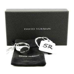 DAVID YURMAN STERLING SILVER CHEVRON ROUND SIGNET RING SIZE 10 NEW BOX # 5R