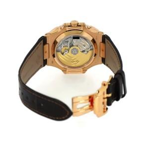 Patek Philippe Nautilus 5980R-001 18K Rose Gold / Leather 40.5mm Mens Watch