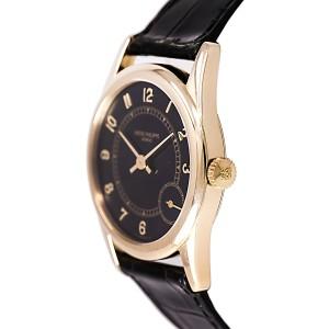 Patek Philippe Calatrava 5000J 18K Yellow Gold / Leather Automatic 33mm Mens Watch