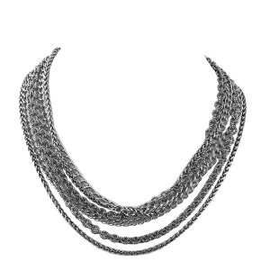 David Yurman 925 Sterling Silver Chains Necklace