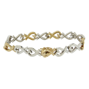 Tiffany & Co. Paloma Picasso 18K Yellow Gold Sterling Silver Bracelet