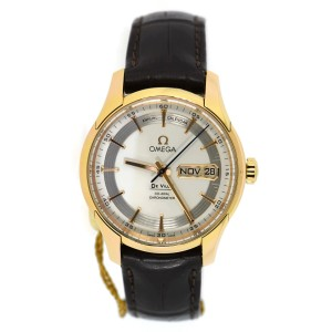 Omega DeVille Hour Vision 431.63.41.22.02.001 18K Rose Gold 41mm Mens Watch