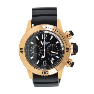 Jaeger LeCoultre Master Compressor Q1862640 18K Rose Gold & Rubber Automatic 44mm Mens Watch