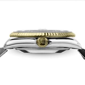 Ladies Vintage Rolex 26mm Datejust Two Tone Champagne Stick Dial
