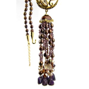 Jay Strongwater Gold Tone Hardware Tassel Necklace