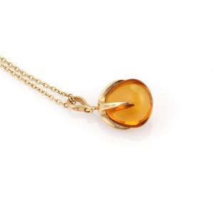 Pomellato Veleno 18K Yellow Gold & Citrine Fruit Pendant Necklace