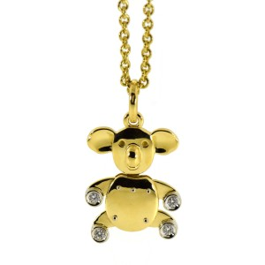 Pomellato Yellow Gold Diamond Womens Pendant
