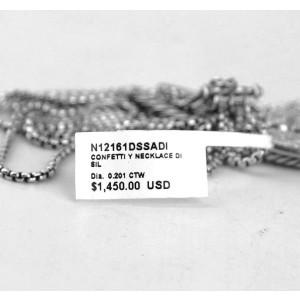 "DAVID YURMAN ST. SILVER CONFETTI ""Y"" 0.2 CTW DIAMOND NECKLACE"