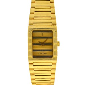 Vintage Concord Dameuri Watch 18k Yellow Gold Ladies Quartz