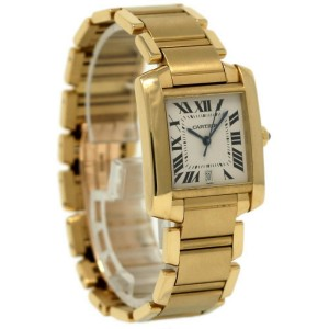 Cartier Tank Francaise W50001R2 35mm Mens Watch