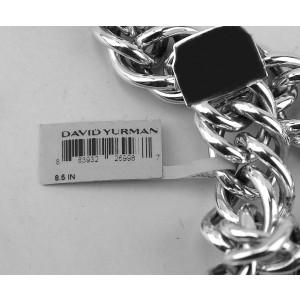 David Yurman 925 Sterling Silver Double Curb Link Royal Cord Bracelet