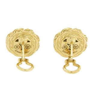 John Hardy 18K Yellow Gold Diamond Earrings
