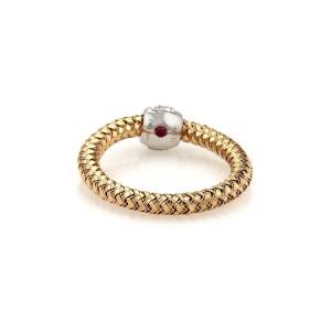 Roberto Coin Primavera 8K White Gold Diamond Ring Size 6.75