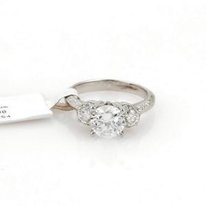 Tacori 3 Platinum Diamond Ring Size 6.5