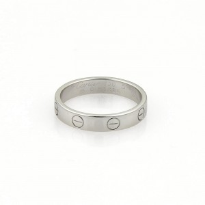 Cartier Love 18K White Gold Ring Size 5.75