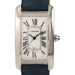 Cartier Tank Americaine 1741 27mm Mens Watch